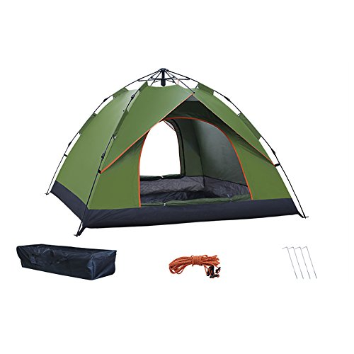 治療スライム酔った屋外のキャンプ テント,3 ~ 4 人テント 防雨の肥厚 2 ダブル 家族キャンプ 自動テント キャリー バッグ 自動インスタント ポップアップ キャンプテント