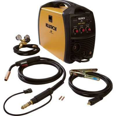 Klutch MIG 140SI Inverter-Powered Wire-Feed MIG Welder - 140 Amp Output