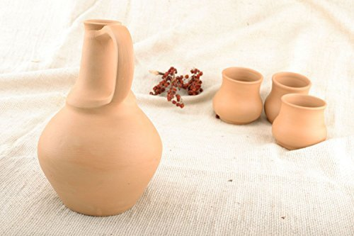 Beautiful Decorative Handmade Designer Ceramic Clay Beverage Portable Pottery Jug -Kitchen Tools- Great Gift Idea By MadeHeart