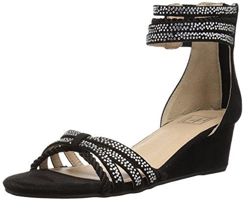 LFL by Lust for Life Women's LL-Novelty Wedge Sandal, Black Suede, 10 Medium US - Suede Wedge Heel