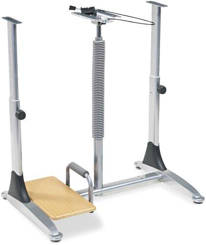 Balt 82593 Ergo Sit/Stand Workstation, 41w x 29d x 29-39h, Teak Laminate Top (Box Two) ()