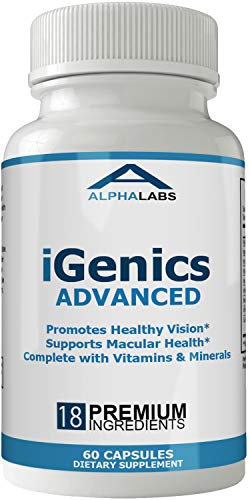 Igenics Eye Supplement Advanced Vision Vitamins with Lutein and Zeaxanthin