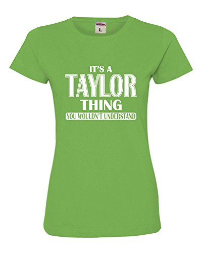 Small Apple Womens It's A Taylor Thing You Wouldn't Understand Deluxe Soft T-Shirt