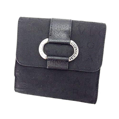 (BVLGARI) ブルガリ Wホック財布 二つ折り コンパクトサイズ メンズ可 中古 L624   B01M0V0WPV