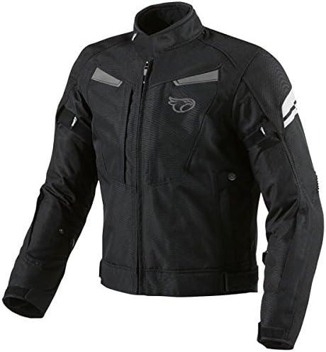 JET Motorradjacke Herren Textil Wasserdicht Winddicht Mit Protektoren Multifunktional Schwarz
