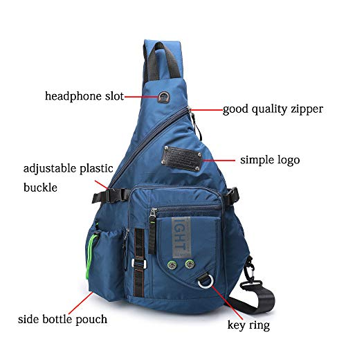 4a5acc6496 DDDH Large Sling Bags Crossbody Backpack 14.1-Inch Chest Daypack Travel Bag  Book Bag for