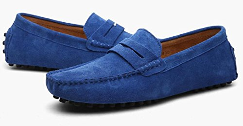 Piselli Da Uomo Scarpe L'estate Da Uomini Primavera Pelle Casual Scarpe Britanniche Scarpe Nuovi YXLONG In Blue E Uomo Fq0w0z