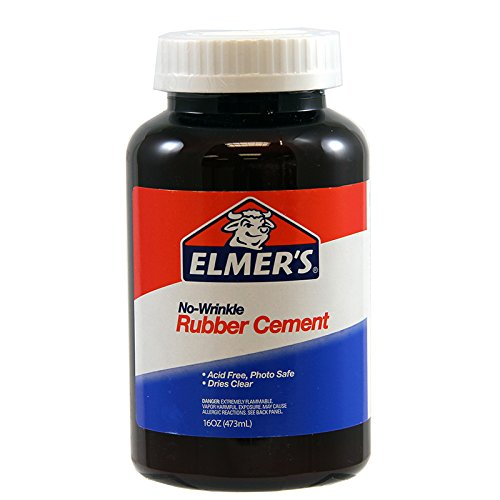 Elmer'S No-Wrinkle Rubber Cement-16oz
