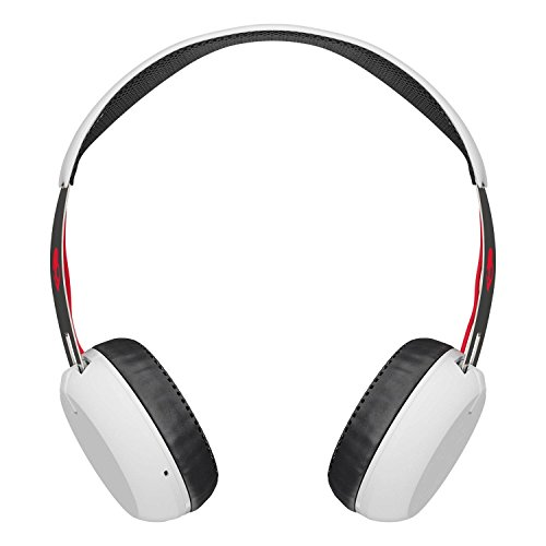 Skullcandy Grind Bluetooth Wireless On-Ear Headphones with Built-In Mic and Remote, 12-Hour Rechargeable Battery, Supreme Sound Audio, Plush Ear Pillows for Comfort, White by Skullcandy (Image #1)