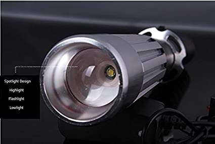 Not Included 2 Easyinsmile Waterproof Aluminium Alloy Multipurpose Flashlight Security Max Force Flahlight rechargeable Battery Powered