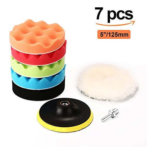 Polishing Pads, PullPritt 5' Sponge Polishing Buffing Pads Kit with M14...