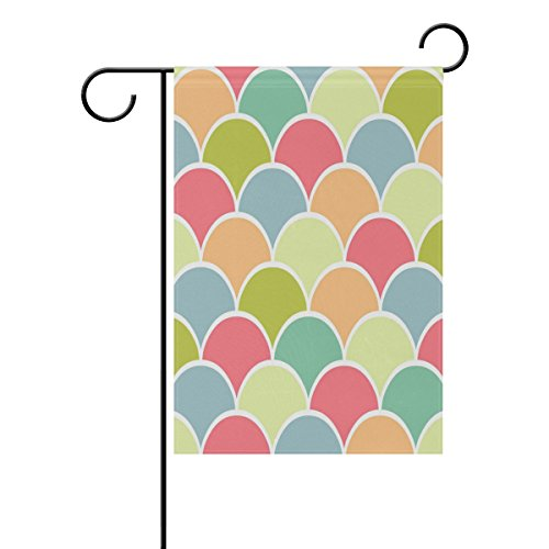 NOAON Garden Flag Art Seamless Pattern Abstract Rainbow Clip