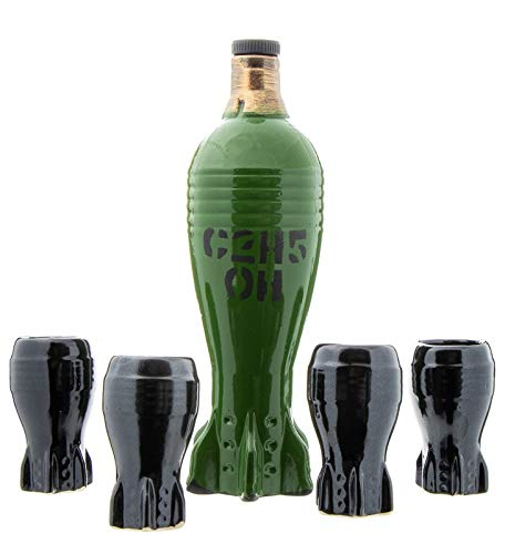 DECANTER Barware Bottle like Rocket Bomb Torpedo Weapon Bullet, MILITARY GIFT ()