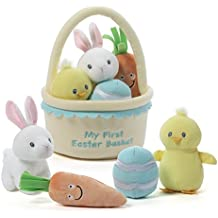 GUND Baby My First Easter Basket Playset Stuffed Plush, 5 pieces