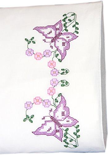 Fairway Beautiful Butterflies Stamped Parle Edge Pillowcases (2 Pack), 30