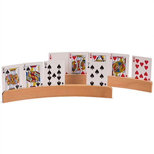 """The Panorama"" Wooden Playing Card Holders, Set of 4"