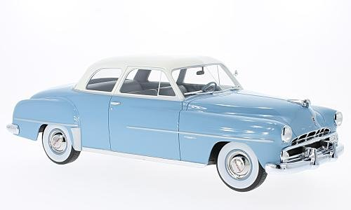 Dodge Coronet Club Coupe, light blue/white, 1952, Model Car, Ready-made, BoS-Models 1:18