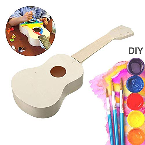 21 inch DIY Ukulele Kit Handwork Hawaii Guitar Musical Instrument Gift for Children and Amateur by Chelseabyt