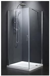 Mybath mybda15 cabina de ducha, mampara, ducha pared con vidrio ...