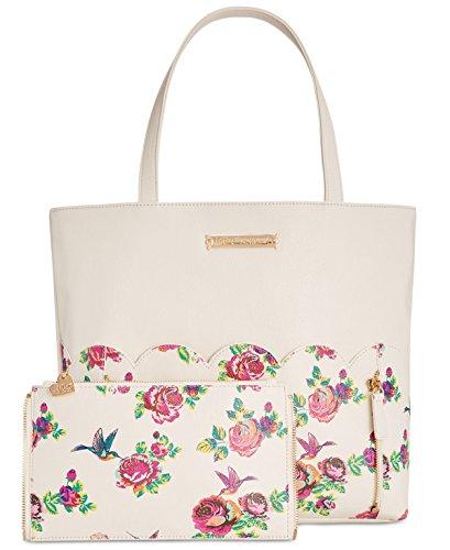 Betsey Johnson, Borsa a spalla donna multicolore Cream Floral