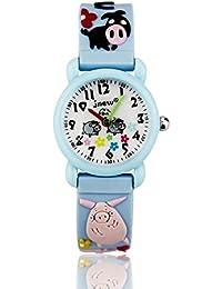 Kids Watches,3D Waterproof Cartoon Children Strap Watch...