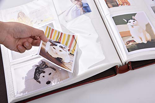 Photo Picutre Album 4x6 500 Photos Extra Large Capacity Leather Cover Wedding Family Photo Albums Holds 500 Horizontal And Vertical 4x6 Photos With Black Pages Purple Pricepulse