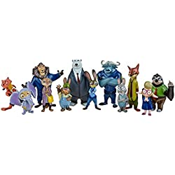 OliaDesign 12 Pieces Zootopia World PVC Characters Exclusive Playset Figures