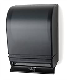 E-Z Taping System TD0215-02 Auto Transfer Push Bar Lever Towel Dispenser in Black Translucent