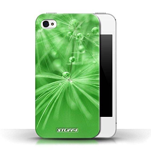 Etui / Coque pour Apple iPhone 4/4S / Fleur Vert conception / Collection de Gouttes de Fées