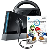 Wii Console with Mario Kart Wii Bundle - Black