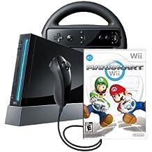 Wii Console with Mario Kart Wii Bundle - Black
