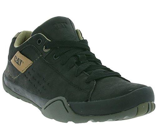 CATERPILLAR Downforce Schuhe Herren Leder Sneaker Schnürschuhe Schwarz P710203 Schwarz