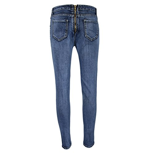 Jeans Leggings Donna Morbido Blu Elastico Ragazze Moda Pantaloni Fenteer xWnf4qW