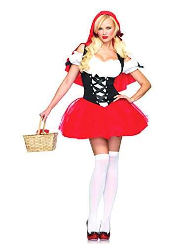 Racy Red Riding Hood Costume - X-Large - Dress Size 14-16 (Racy Red Riding Hood Costume)