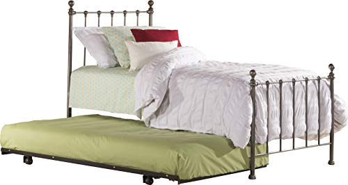 Hillsdale Furniture 1944TBDT Molly Bed Set with Suspension Deck and Roll Out Trundle, Twin, Black Steel