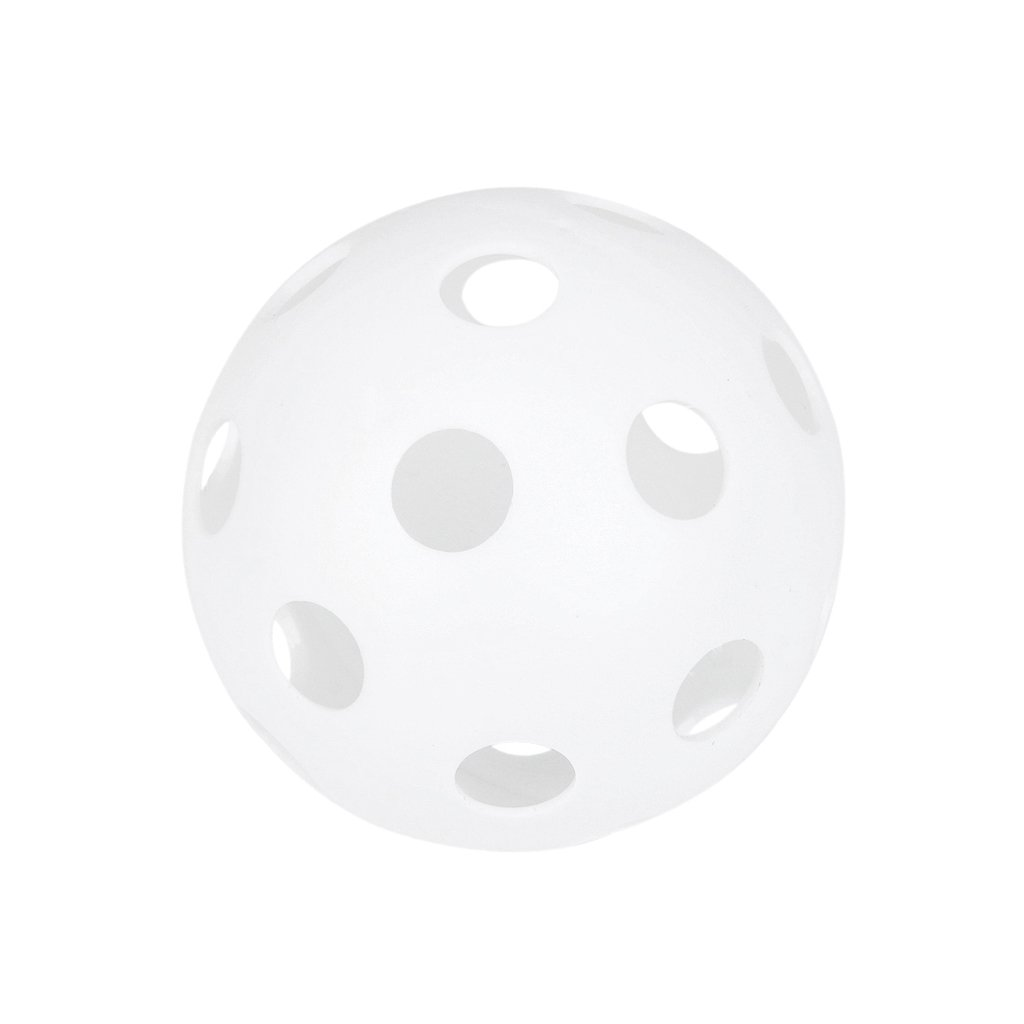 1 x Perforated Baseball Practice Ball Plastic Pet Ball---White Generic