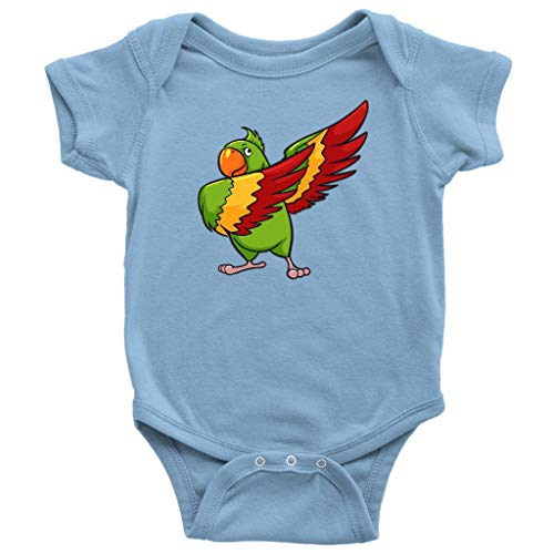 Price comparison product image Parrot Baby Bodysuit Romper,  Macaw Pet Bird Lover Gifts,  Light Blue,  NB