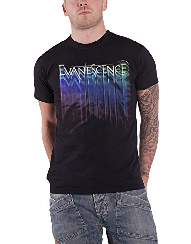 Evanescence T Shirt Tour Band Logo Bring Me To Life Official Mens Black (Evanescence Bring Me To Life Acoustic Instrumental)