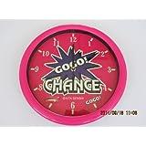 ジャグラー GOGO! CHANCE 蓄光掛け時計 ピンク