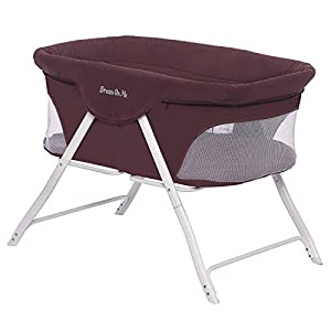 Dream On Me Traveler Portable Bassinet, Berry