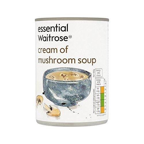Cream of Mushroom Soup essential Waitrose 400g - Pack of 4