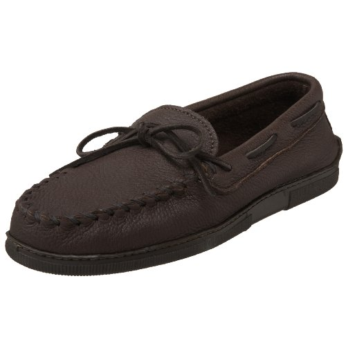 Minnetonka Men's Moosehide Classic Moccasin,Chocolate Moose,11.5 M US