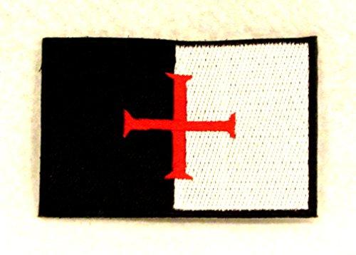IND STURGIS Knights Templar Flag Small Badge Patch for Biker Vest SB770