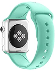 Sporty Band For Apple Watch, Soft Silicone Replacement Strap Band For Apple Watch (Series 1/Series 2/Series 3) (42MM M/L Mint Green)