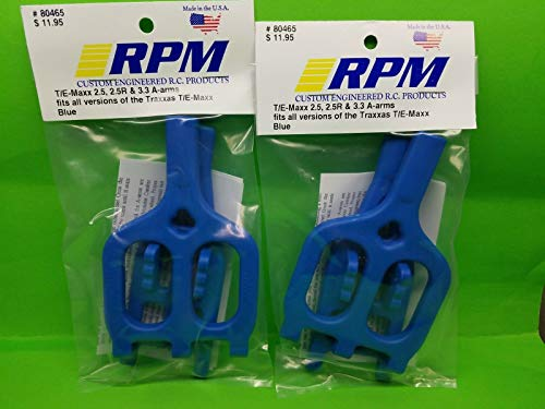(2 Pack RPM 80465 Front Rear Blue Suspension Arms Traxxas 2.5 3.3 T-maxx Emaxx)