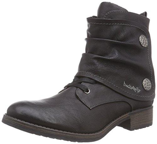 Dockers 35IZ304 - botas de combate de material sintético mujer negro - negro