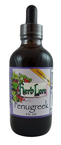 Herb Lore Organic Fenugreek Tincture - Alcohol-Base (4 Ounce) - Helps Improve Breast Milk Supply by Herb Lore