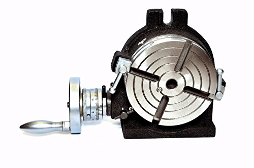 "Horizontal Vertical HV6 Rotary Table 6"" / 150MM - 4 Slot For Milling Machine"
