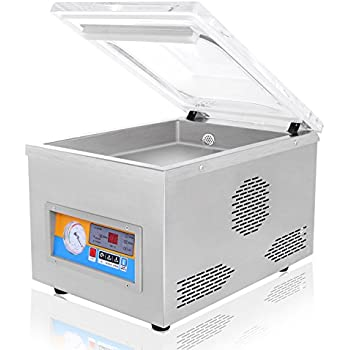 FoodKing Vacuum Sealer Vacuum Packing Machine Vacuum Chamber Kit Kitchen Storage Food Saver Preserving System 120W Commercial Grade Stainless Steel