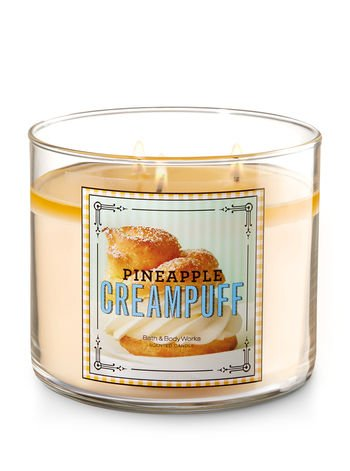 Bath and Body Works Pineapple Cream Puff Sweet Shop Scented